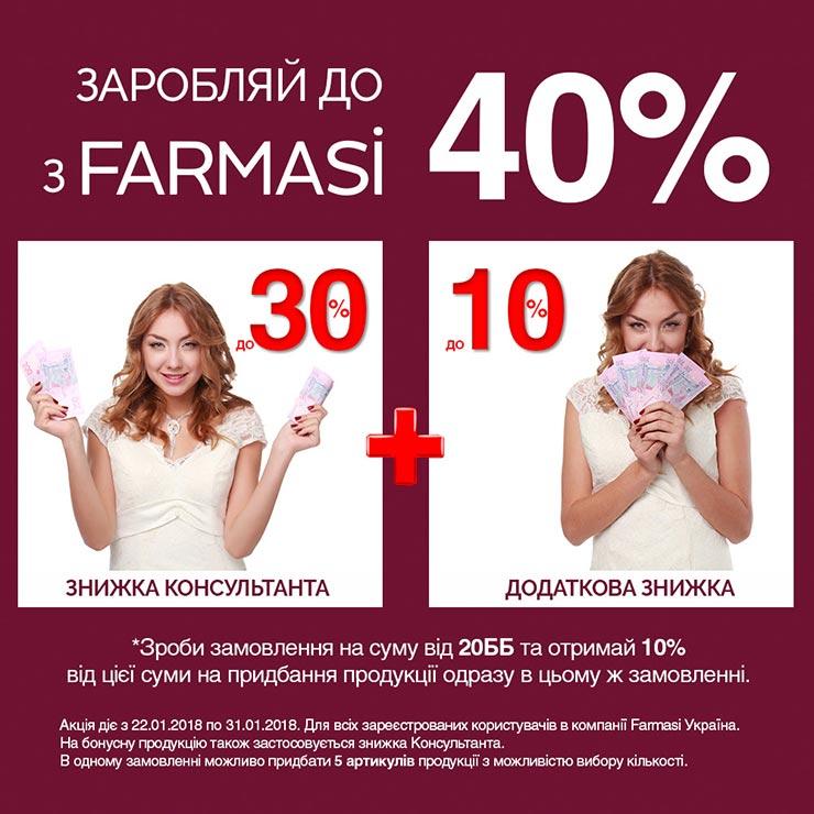 Твой заработок с Farmasi до 40%