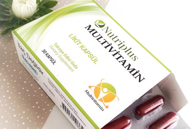 Комплекс необходимых и полезных для организма витаминов Nutriplus