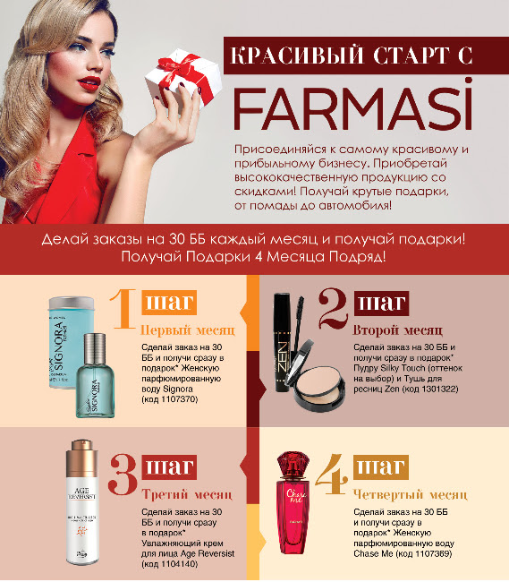 Лучшие Farmasi предложения Ноября