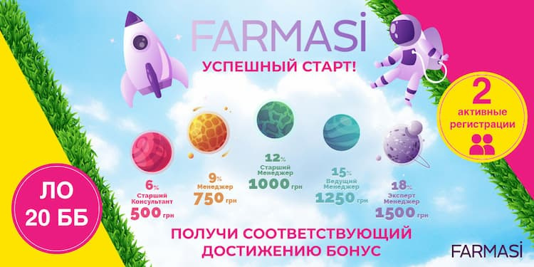 Программы Farmasi Июль 2019